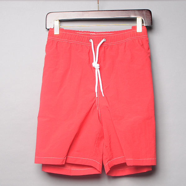 Alan Paine Red Solid Swim Trunks