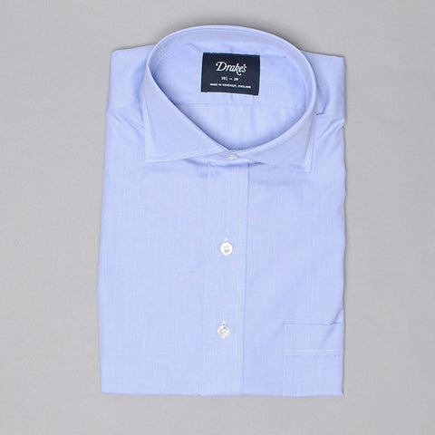 Drake's Blue End on End Dress Shirt