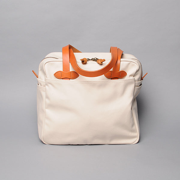 Filson Natural Twill Tote Bag with Zipper