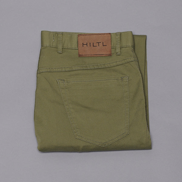 Hiltl Moss Green Cotton Five Pocket