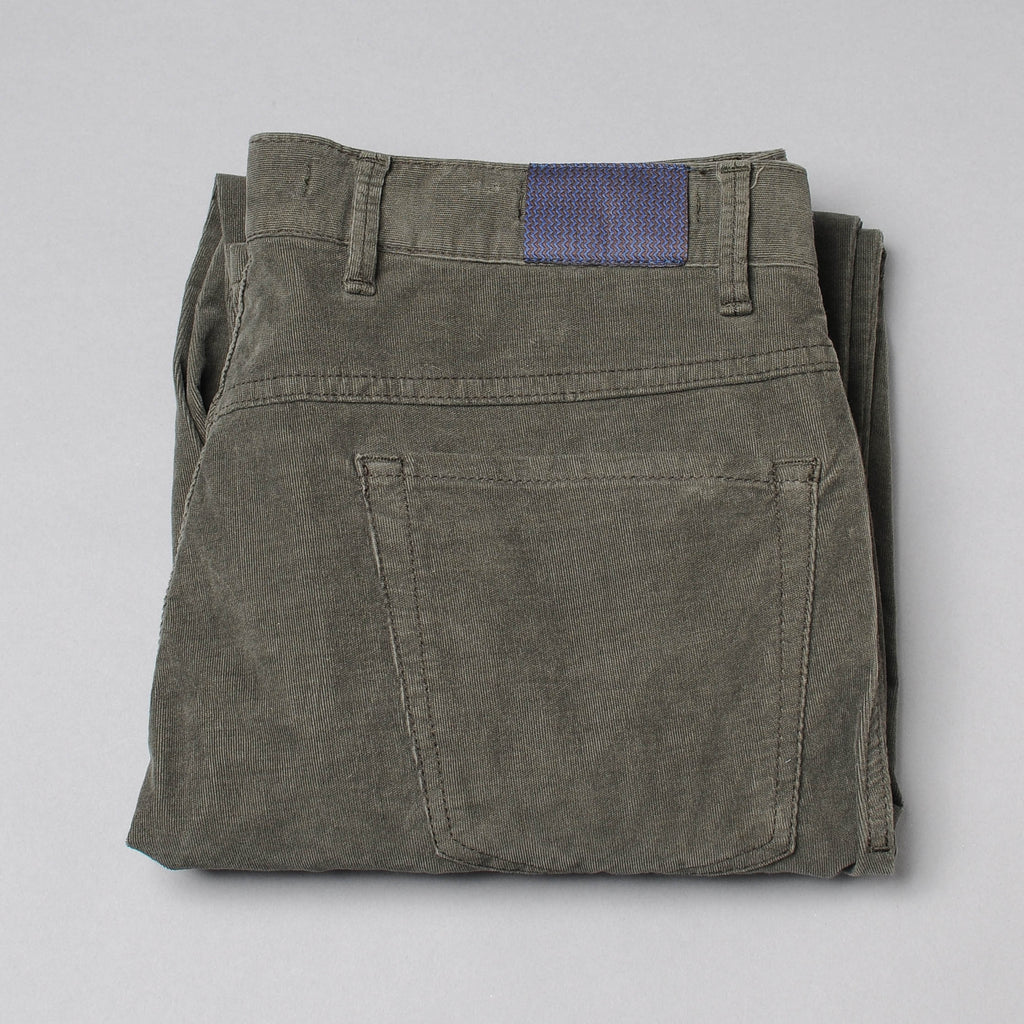 Hiltl Forest Green Corduroy  Five Pocket
