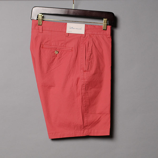 Peter Millar Red Poplin Short