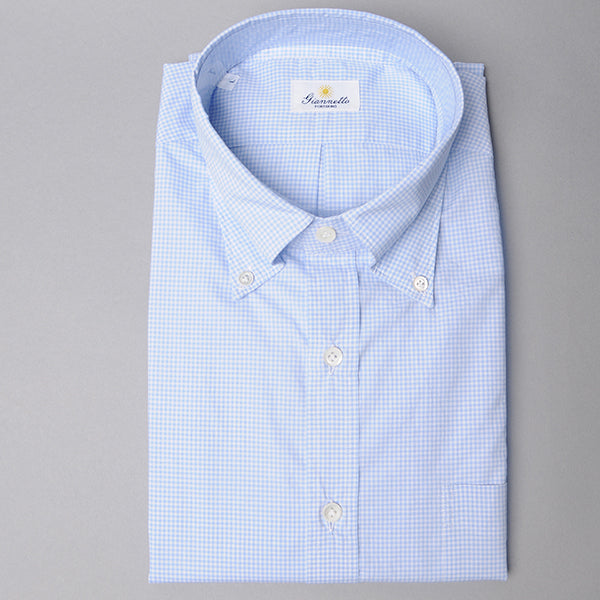 Giannetto Light Blue Gingham Shirt