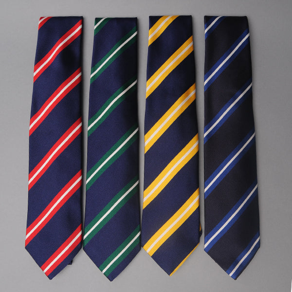 Drake's Repp Stripe Silk Ties
