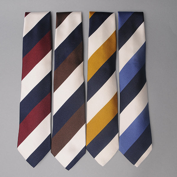 Drake's Three Color Bar Stripe Ties