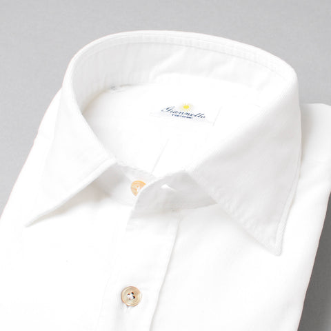 Giannetto White Washed Corduroy Shirt
