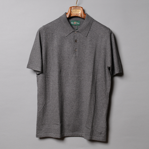 Alan Paine Grey Luxury Knit Polo