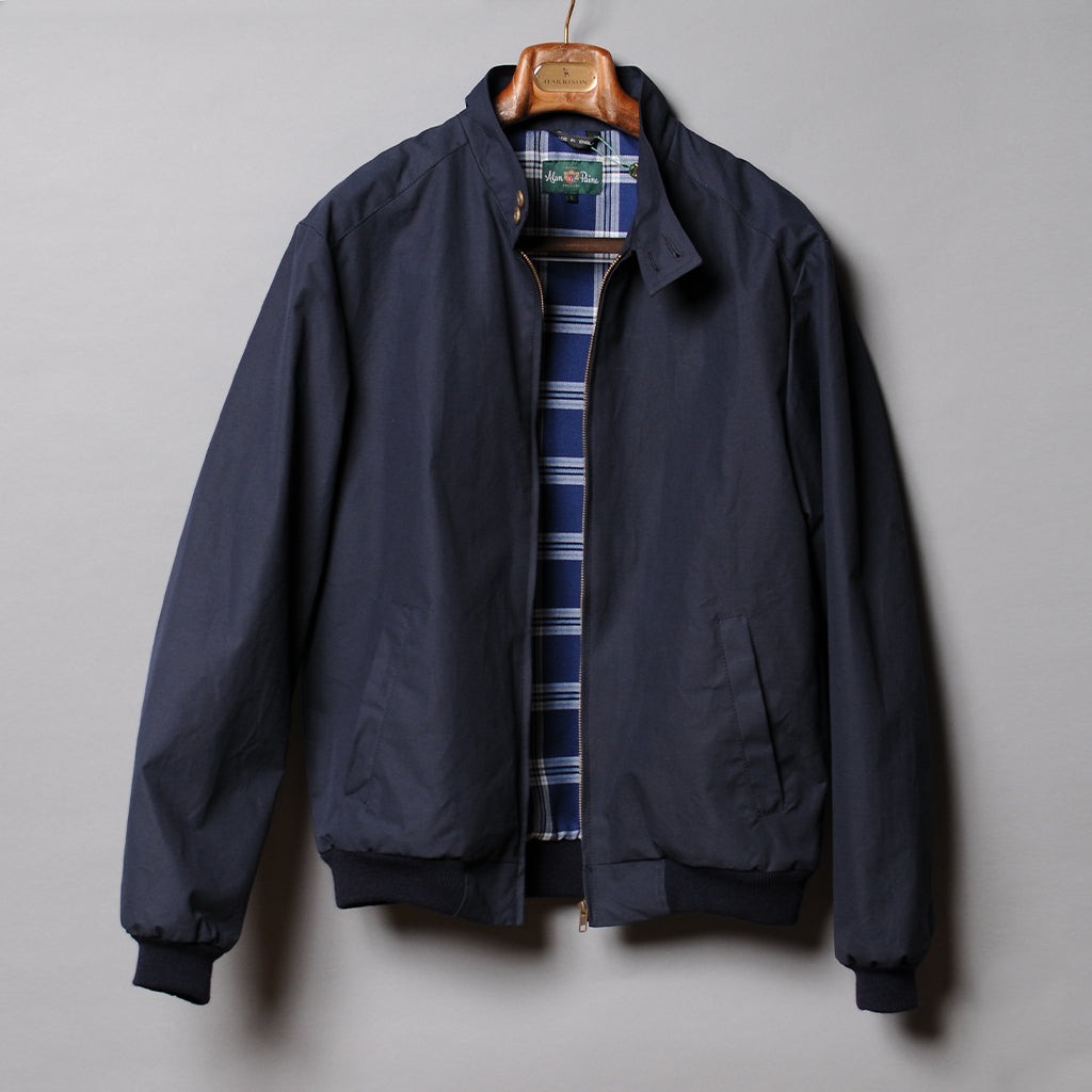 Alan Paine Navy Cotton Bomber Jacket