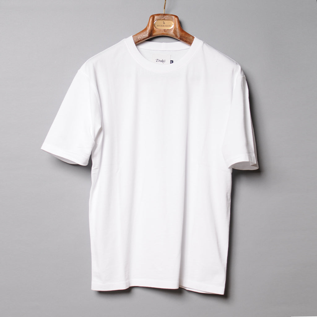 Drake's White Cotton T-Shirt