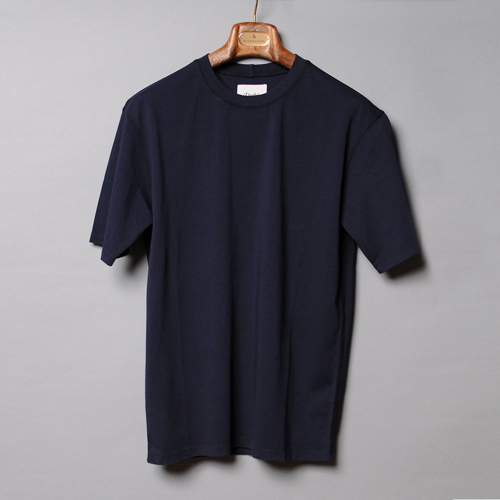 Drake's Navy Cotton T-Shirt