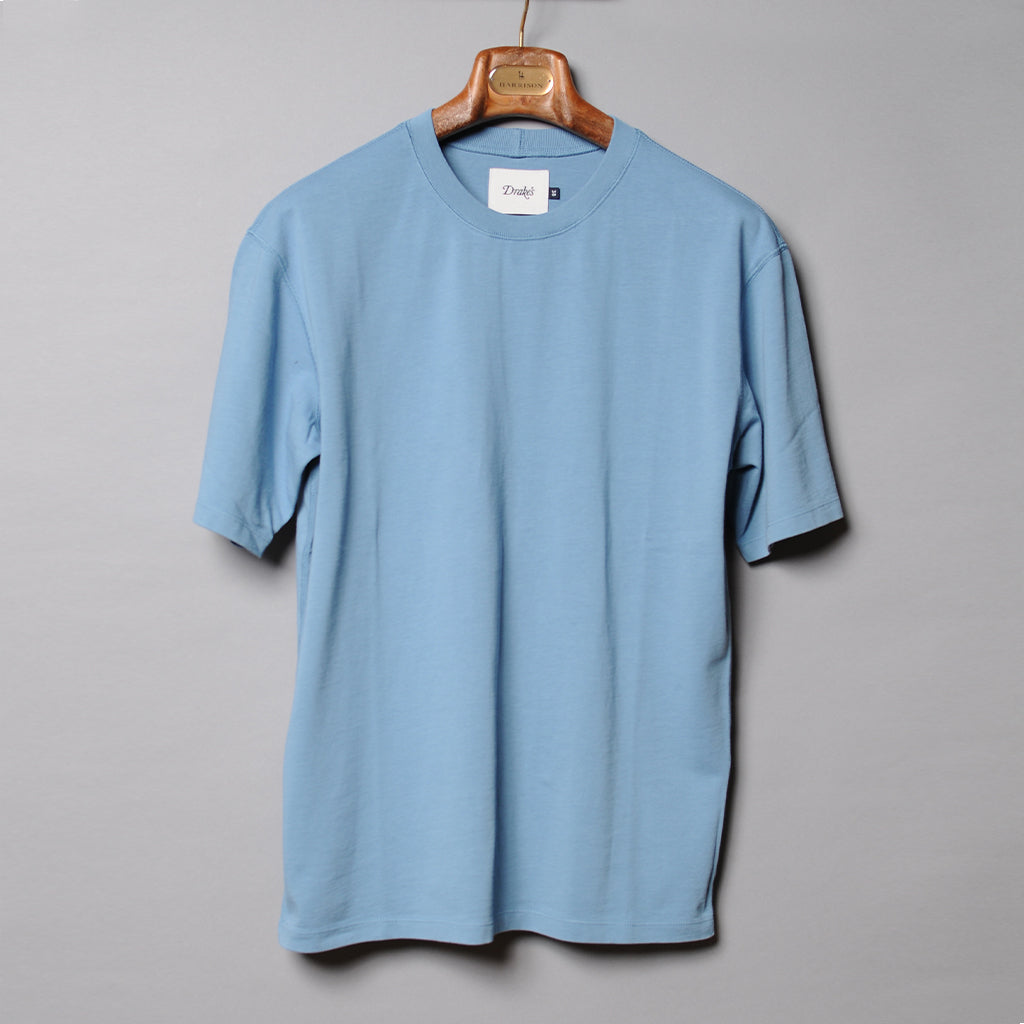 Drake's Blue Cotton T-Shirt