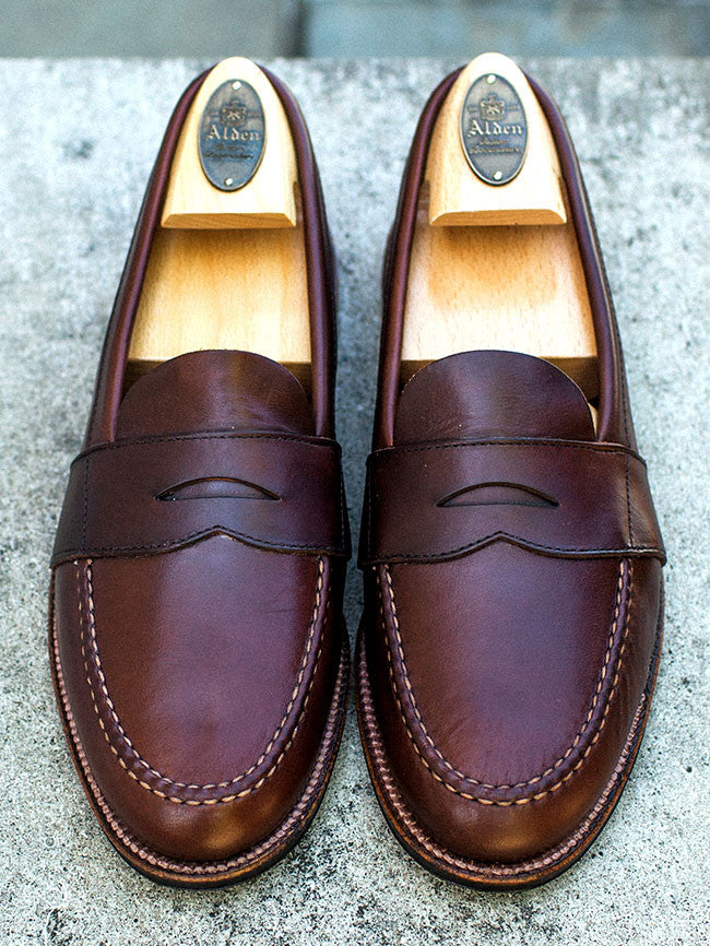 Alden Dark Brown Chromexcel Full Strap Penny Loafer
