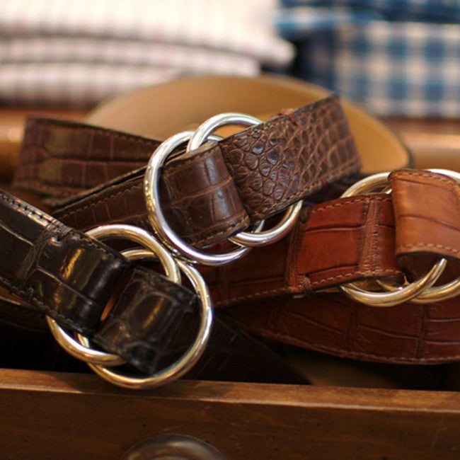 Harrison O-Ring Belt by Martin Dingman — Cognac