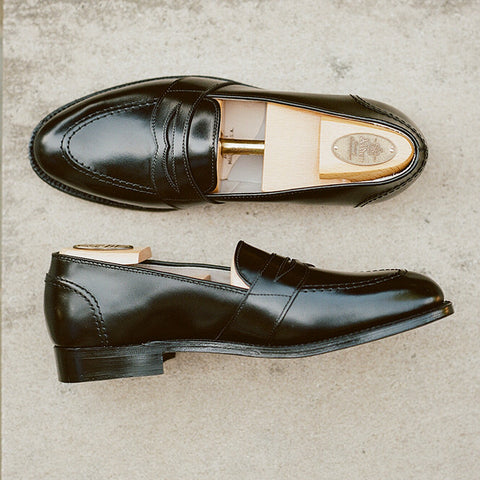 Alden Black Fullstrap Slip-On