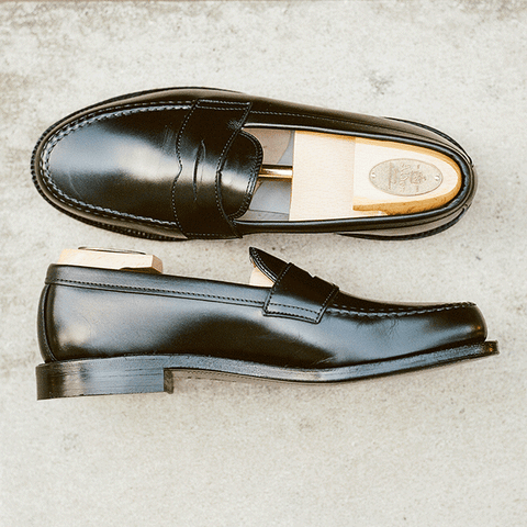Alden Black Leisure Hand-sewn Penny Loafer