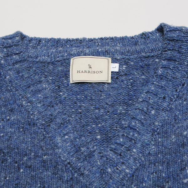 Harley of Scotland Donegal Sweater - Blue