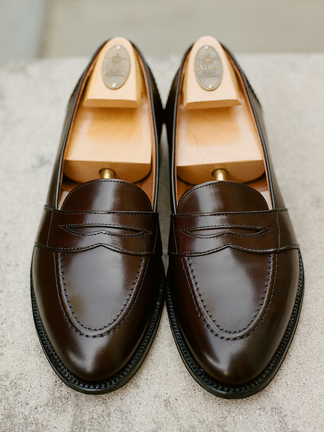 Alden Dark Brown Fullstrap Slip-On