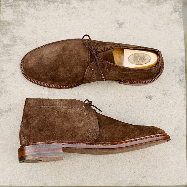 Alden Dark Brown Suede Unlined Chukka Boot