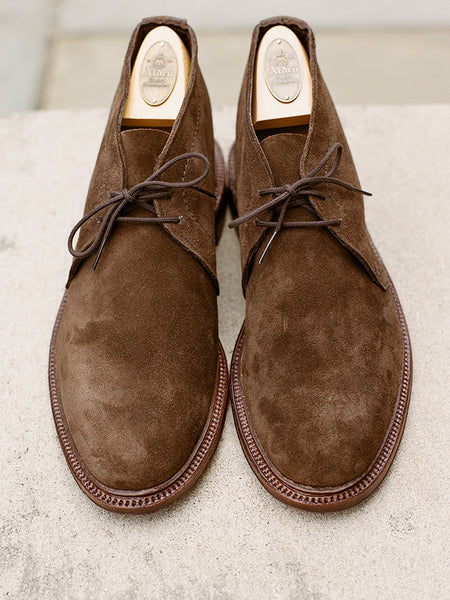 Alden Dark Brown Suede Unlined Chukka Boot Harrison Limited