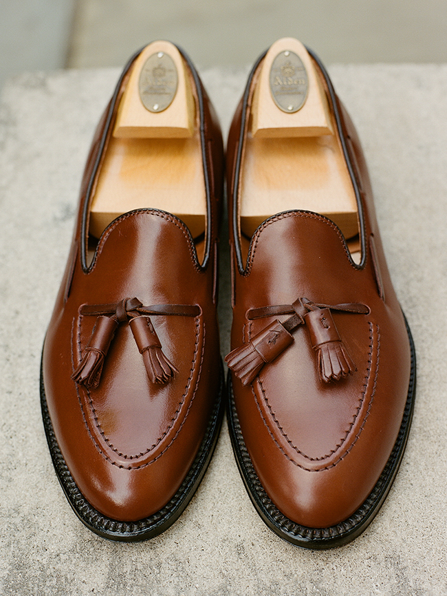 f77c597c3879c Alden Walnut Brown Tassel Loafer Alden Walnut Brown Tassel Loafer
