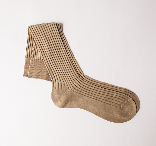 Pantherella Cotton Sock - Light Khaki