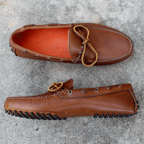 Rancourt Driving Shoe in Tan