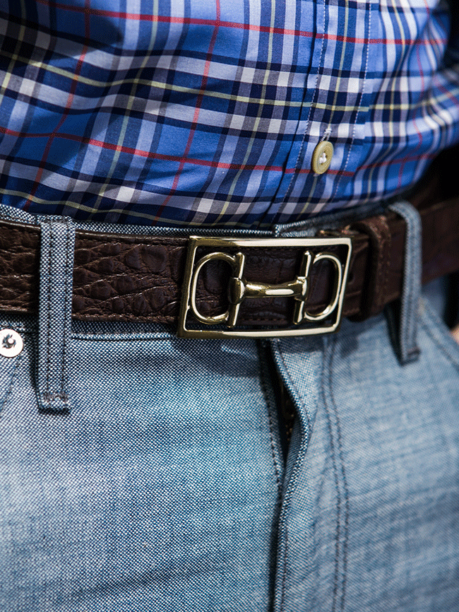 Martin Dingman Horse Bit Belt In Dark Brown
