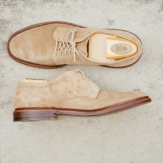 Alden Tan Suede Plain Toe Blucher