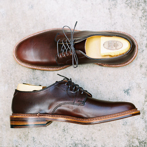 Alden Dark Brown Chromexcel Plain Toe Blucher