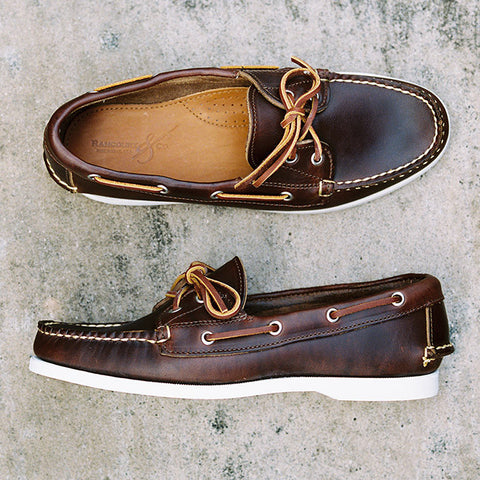 Rancourt Chromexcel Boat Shoe in dark brown