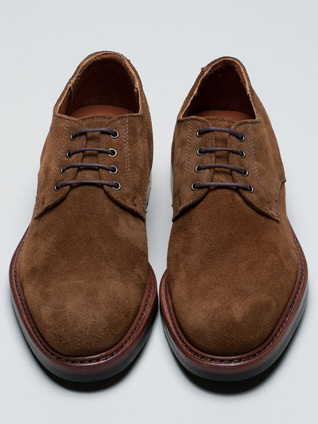 Rancourt Plain Toe Blucher in Snuff Suede