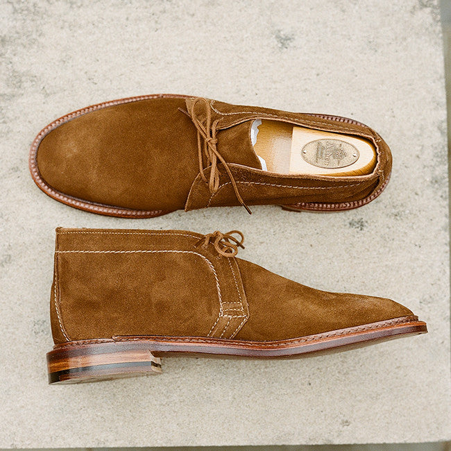 Alden Snuff Suede Unlined Chukka Boot