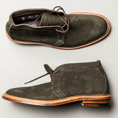 Alden Hunting Green Suede Unlined Chukka Boot