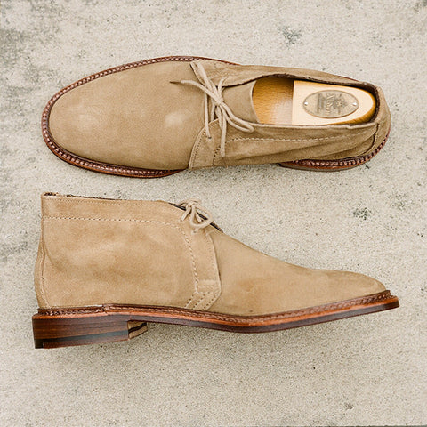 Alden Tan Suede Unlined Chukka Boot
