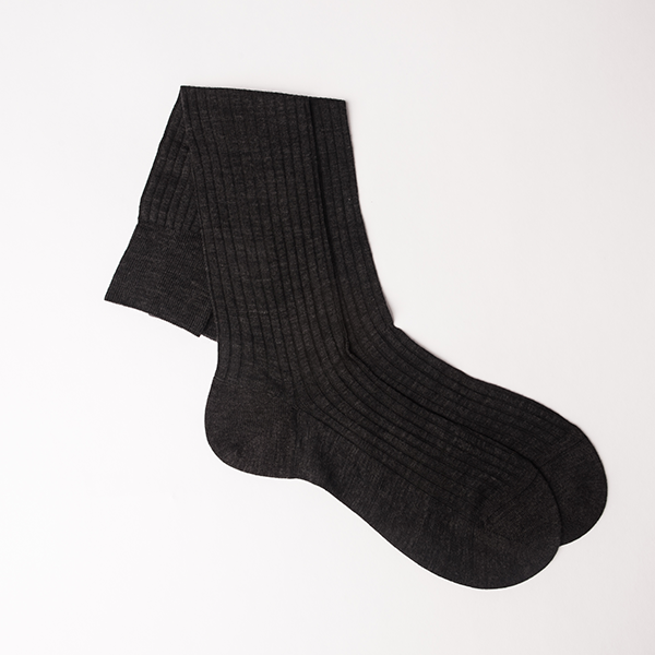 Pantherella Merino Wool Sock - Charcoal