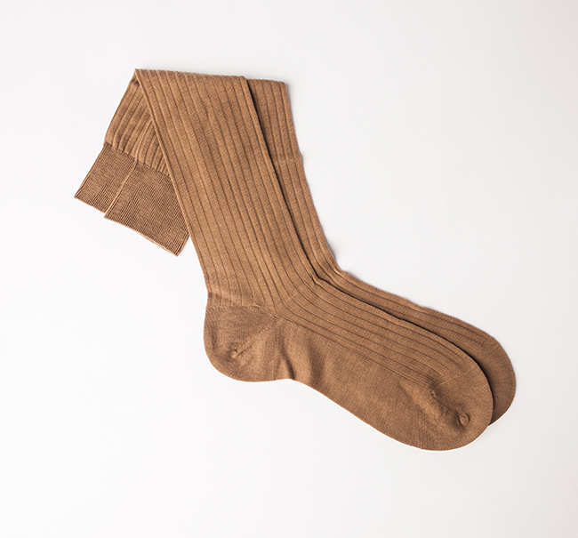 Pantherella Merino Wool Sock - Dark Camel