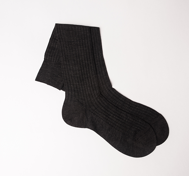 Pantherella Cotton Sock - Dark Grey Mix