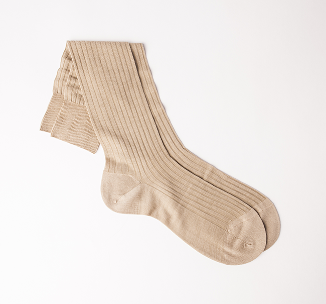 Pantherella Merino Wool Sock - Light Khaki