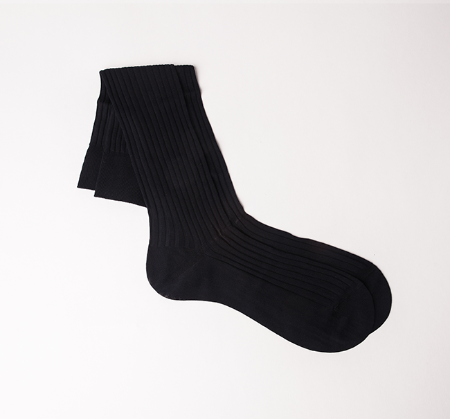Pantherella Cotton Sock - Navy
