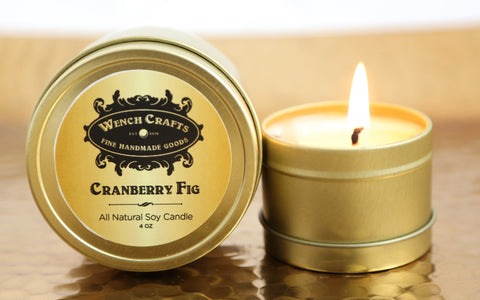 Cranberry Fig Coconut Wax Blend Candle
