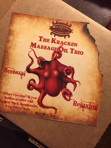 The Kracken Massage Oil Trio