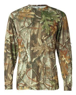 Long Sleeve Camo Performance Tee w/ BSS® Seal