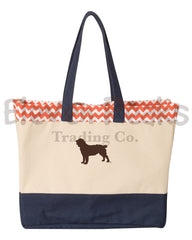 Brookson Bay-Patterned Top Beach Tote w/ BSS® Silhouette