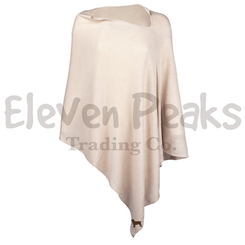 Creme Chelsea Poncho w/ BSS® Silhouette
