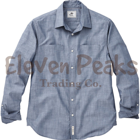 Men's Clearwater RootS73 Long Sleeve Shirt w/ BSS Silhouette Embroidery