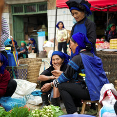 Ethnic women at the market