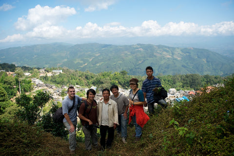 Sam and I with some friends & tea partners in the mountains of Yunnan
