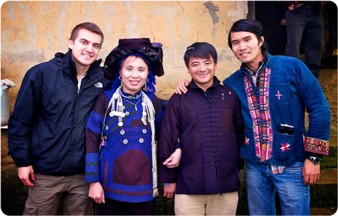 Ken & Sam with our tea partners at their wedding in a Yunnan village