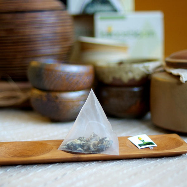 Blooming Jasmine Tea Pyramids