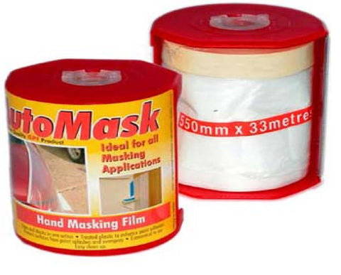 Altitude Hand masking film with tape 550mm x 33 metres with dispenser